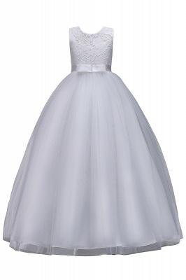 Elegant Jewel Lace Flowergirl Dresses | Bow Sleeveless Children Dresses_4
