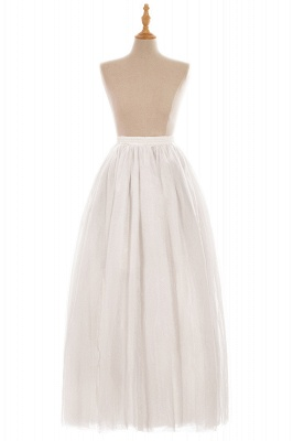 Glamorous A-line Floor-Length Skirt | Elastic Women's Skirts_2