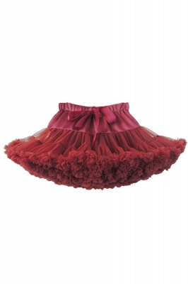 Merveilleuse jupe en tulle mini ligne | Jupes élastiques bowknot femmes_6
