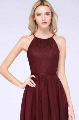 A-line Chiffon Lace Jewel Sleeveless Knee-Length Bridesmaid Dresses with Ruffles_7