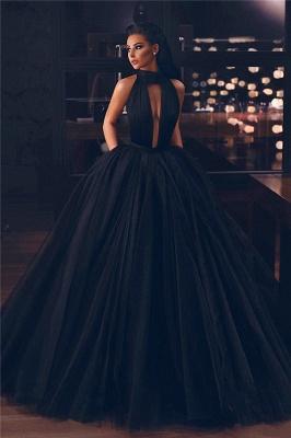 Sexy High-Neck Sleeveless Ball Gown Evening Dress_1