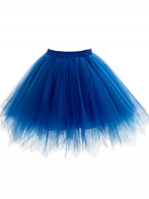 Charming Tulle Short A-line Mini Skirts | Elastic Women's Skirts_9