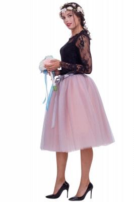 Jupes en tulle au genou glorieux | Jupes élastiques bowknot femmes_2