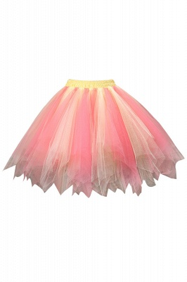 Charming Tulle Short A-line Mini Skirts | Elastic Women's Skirts_7