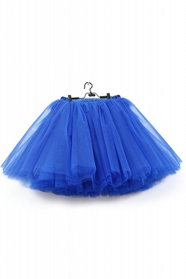 Amazing Tulle Short Mini Ball-Gown Skirts | Elastic Women's Skirts_11