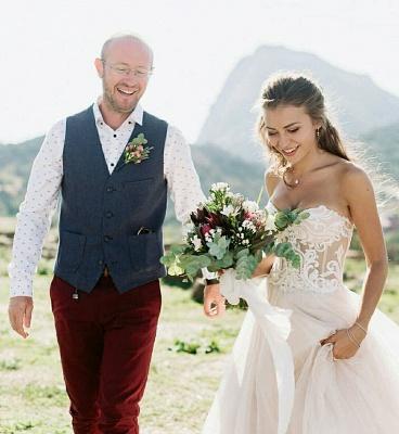 Appliques simples bustier chérie robe de mariée une ligne_2