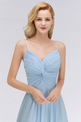 Chiffon V-Neck Spaghetti Straps Floor-Length Bridesmaid Dresses_5