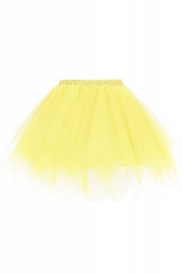 Charming Tulle Short A-line Mini Skirts | Elastic Women's Skirts_8