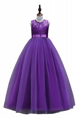 Elegant Jewel Lace Flowergirl Dresses | Bow Sleeveless Children Dresses_2