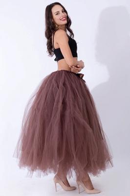 Fascinating Tulle Floor-Length Ball-Gown Skirts | Elastic Women's Skirts_8