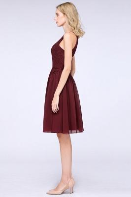 A-line Chiffon Lace Jewel Sleeveless Knee-Length Bridesmaid Dresses with Ruffles_4