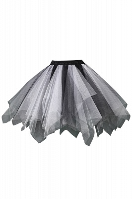 Charming Tulle Short A-line Mini Skirts | Elastic Women's Skirts_2