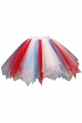 Charming Tulle Short A-line Mini Skirts | Elastic Women's Skirts_14