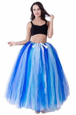 Fascinating Tulle Floor-Length Ball-Gown Skirts | Elastic Women's Skirts_1