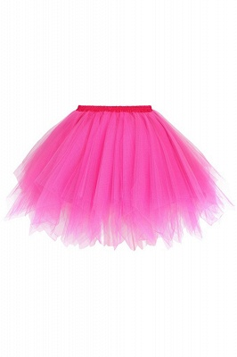 Charming Tulle Short A-line Mini Skirts | Elastic Women's Skirts_5