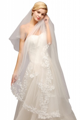 Excellent Lace Tulle Cathedral Wedding Veils | Bridal Veils_4
