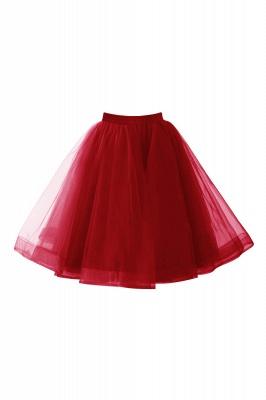 Alluring Tulle Short A-line Skirts | Elastic Women's Skirts_3