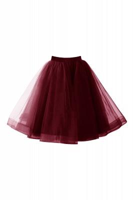 Alluring Tulle Short A-line Skirts | Elastic Women's Skirts_4