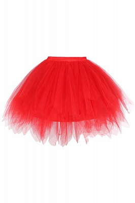 Charming Tulle Short A-line Mini Skirts | Elastic Women's Skirts_4