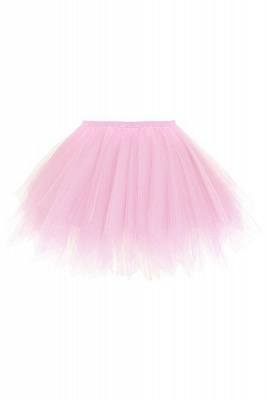 Charming Tulle Short A-line Mini Skirts | Elastic Women's Skirts_3