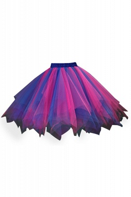 Charming Tulle Short A-line Mini Skirts | Elastic Women's Skirts_10