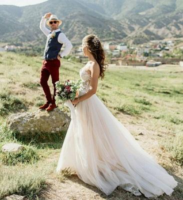 Appliques simples bustier chérie robe de mariée une ligne_3