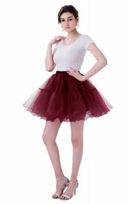 Brilliant Tulle Mini Short A-line Skirts | Elastic Women's Skirts_4