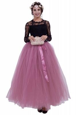 Fascinating Tulle Floor-Length Ball-Gown Skirts | Elastic Women's Skirts_4