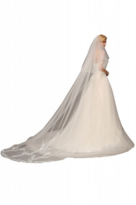 Excellent Lace Tulle Cathedral Wedding Veils | Bridal Veils_3