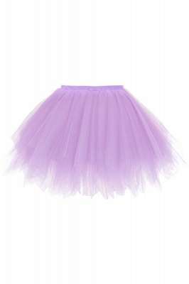 Charming Tulle Short A-line Mini Skirts | Elastic Women's Skirts_15