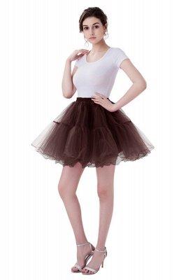 Brilliant Tulle Mini Short A-line Skirts   Elastic Women's Skirts_5