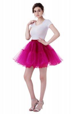 Brilliant Tulle Mini Short A-line Skirts   Elastic Women's Skirts_3
