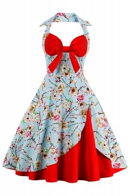 Brilliant Halter Sexy Flowers Fashion Dresses | Bow Women's Dresses