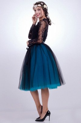 Glorious Tulle Knee-Length Ball-Gown Skirts | Elastic Bowknot Women's Skirts_11
