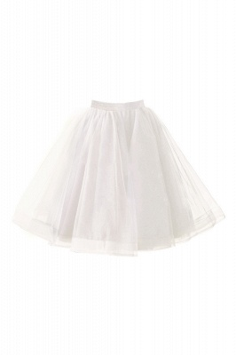 Alluring Tulle Short A-line Skirts | Elastic Women's Skirts_1