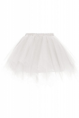 Charming Tulle Short A-line Mini Skirts | Elastic Women's Skirts_1