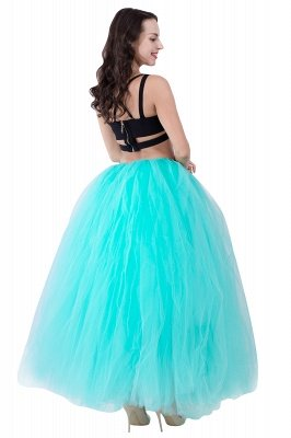Fascinating Tulle Floor-Length Ball-Gown Skirts | Elastic Women's Skirts