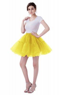 Brilliant Tulle Mini Short A-line Skirts   Elastic Women's Skirts_6