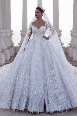 Exquisite Sweetheart Straps Leaves Pattern Beading Wedding Dress