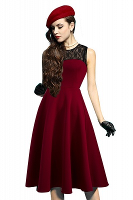 Elegant Jewel Lace Sleeveless Fashion Dresses | Sweetheart Women's Dress