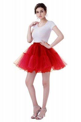 Brilliant Tulle Mini Short A-line Skirts   Elastic Women's Skirts_2