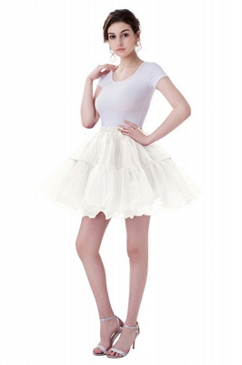 Brilliant Tulle Mini Short A-line Skirts   Elastic Women's Skirts_1