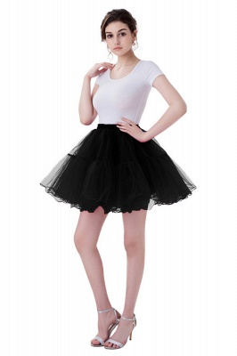 Brilliant Tulle Mini Short A-line Skirts   Elastic Women's Skirts_12