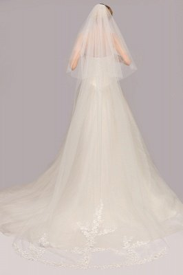 Excellent Lace Tulle Cathedral Wedding Veils | Bridal Veils_2