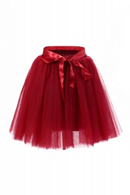 Amazing Tulle Short Mini Ball-Gown Skirts | Elastic Women's Skirts_6