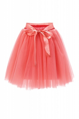 Amazing Tulle Short Mini Ball-Gown Skirts | Elastic Women's Skirts_3