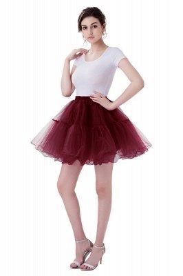 Brilliant Tulle Mini Short A-line Skirts   Elastic Women's Skirts_4