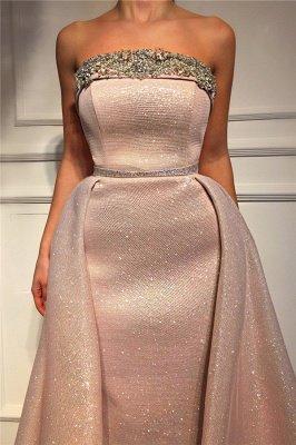 Sparkle Sequins Strapless Pink Prom Dress | Fantastic Sleeveless Beading Long Prom Dress_2