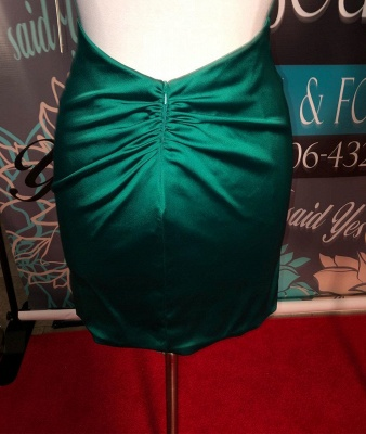 Simple Dark Green High Neck Sexy Short Homecoming Dresses | Sheath Sleeveless Mini Cocktail Dress_4