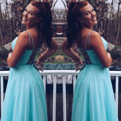 Simple Spaghetti Straps Sleeveless Bridesmaid Dress   Chic Chiffon Long Wedding Party Dress_2
